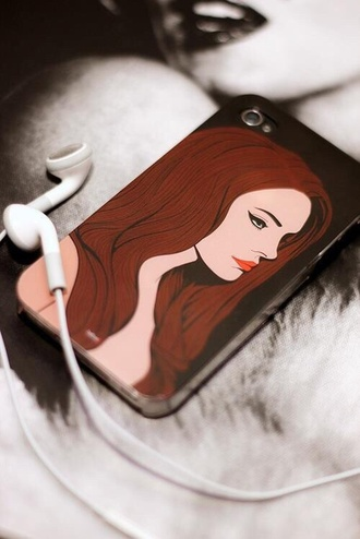 phone cover lana del rey iphone 5 case iphone case apple case for iphone 4/4s/5