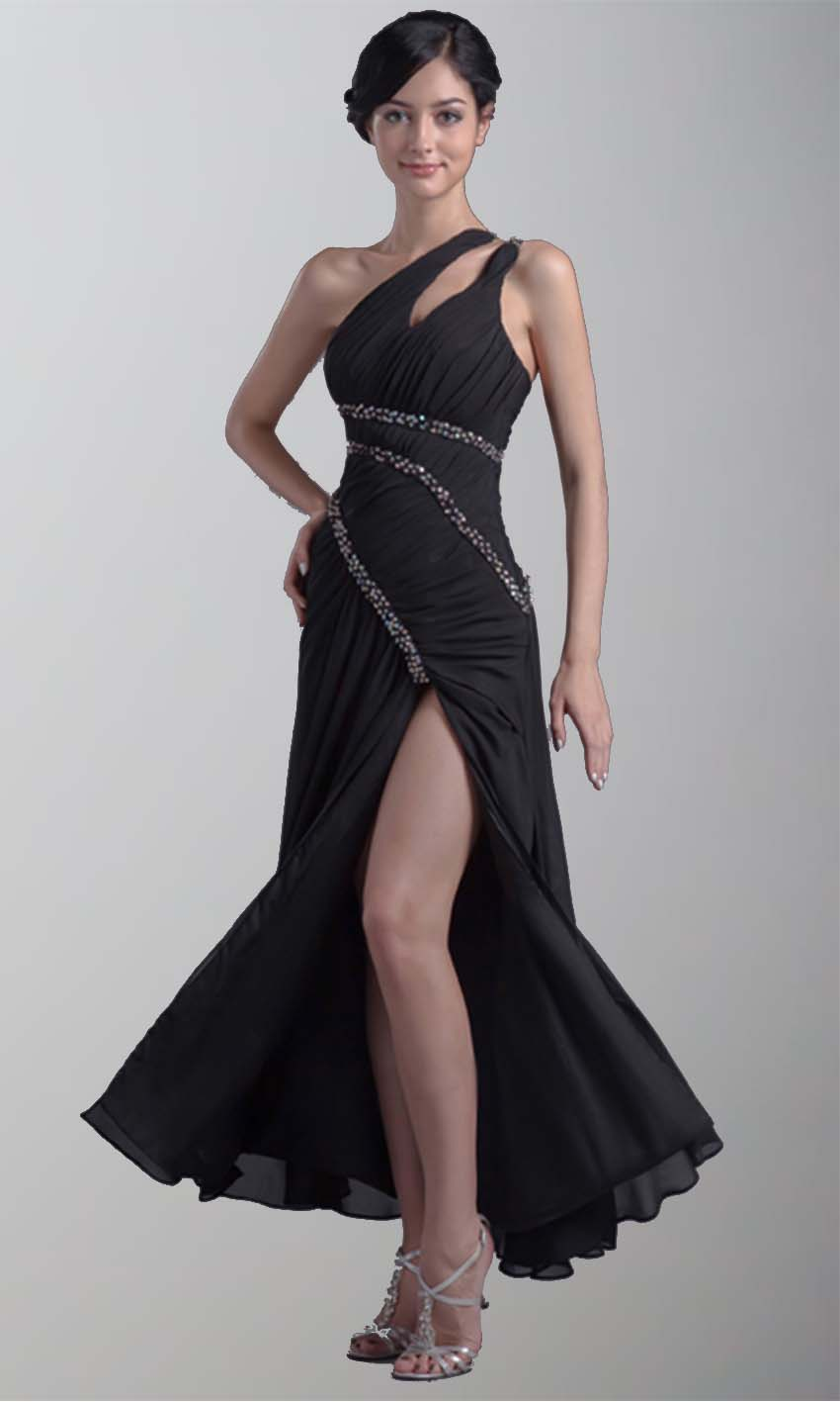 Side Slit Black Draped Long Prom Dresses KSP182 [KSP182] - £98.00 : Cheap Prom Dresses Uk, Bridesmaid Dresses, 2014 Prom & Evening Dresses, Look for cheap elegant prom dresses 2014, cocktail gowns, or dresses for special occasions? kissprom.co.uk offers various bridesmaid dresses, evening dress, free shipping to UK etc.