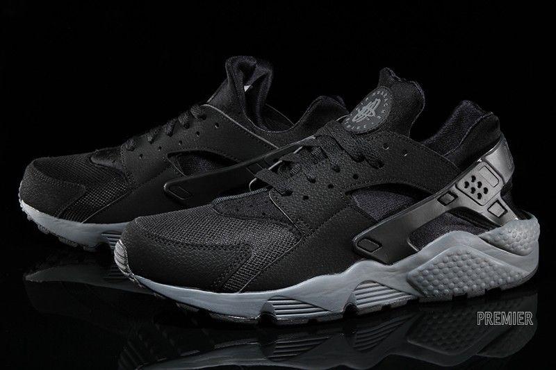 e56ef8c6c528 Nike Air Huarache Black Grey New Runner World Shipping Triple ...