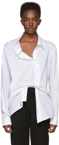 ANN DEMEULEMEESTER shirt asymmetric shirt white top