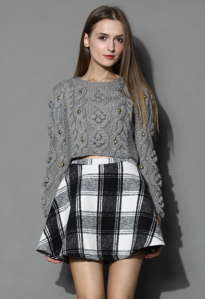 Retro Cozy Up Woolen Sweater in Grey - Retro, Indie and Unique Fashion