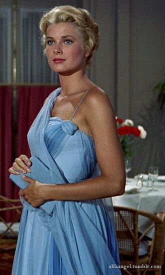 dress grace kelly actress blue dress lace ball dresses clutch blue clutch retro dress retro