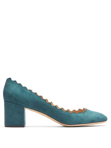 Chloe suede pumps pumps suede green shoes