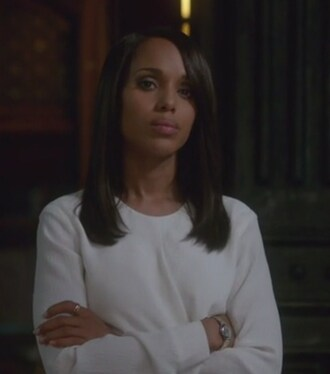 blouse white olivia pope scandal kerry washington crepe