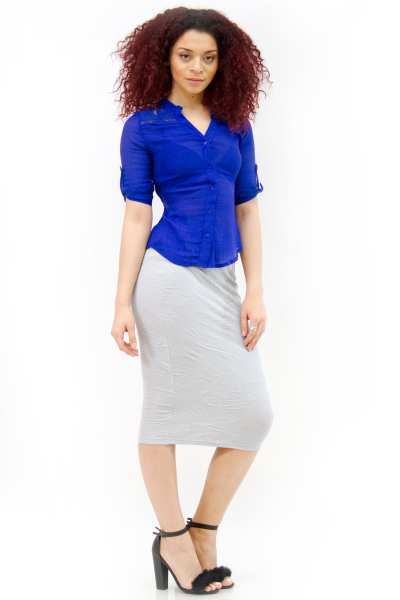Paisley jacquard pencil midi skirt