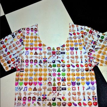 SWEET LORD O'MIGHTY! EMOJI CROP TEE on Wanelo