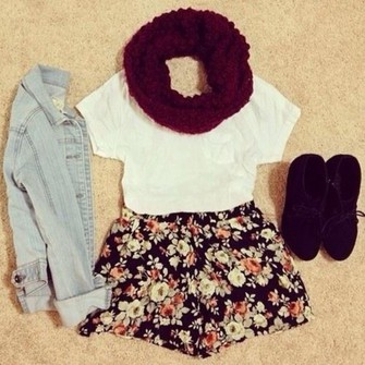 red scarf scarf snood shorts scarf red