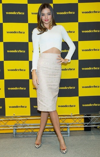 top white crop tops miranda kerr