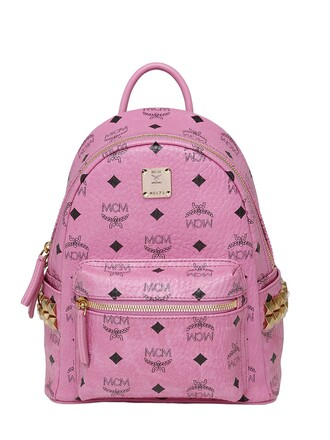 mini backpack leather backpack leather pink bag