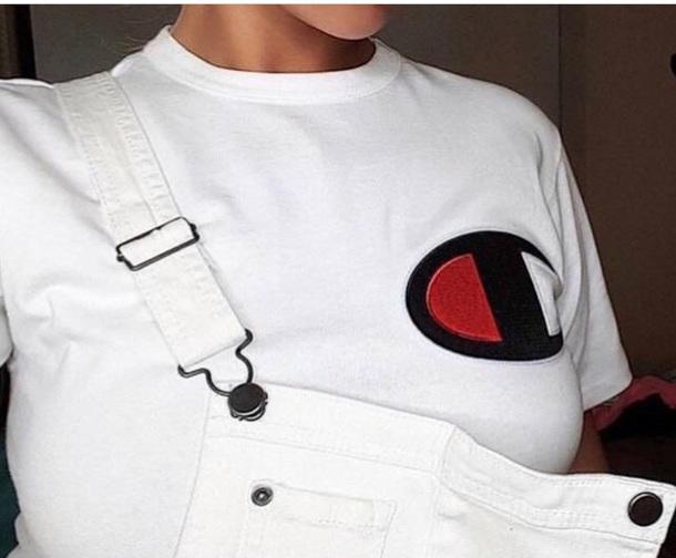 shirt champion white white t-shirt