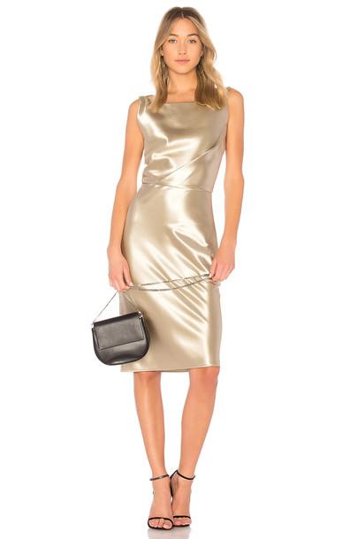 Nili Lotan dress metallic gold