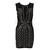 Embellished Beaded Glitter Rivet Stud Sleeveless Concealed Zip Fit Bodycon Dress | eBay