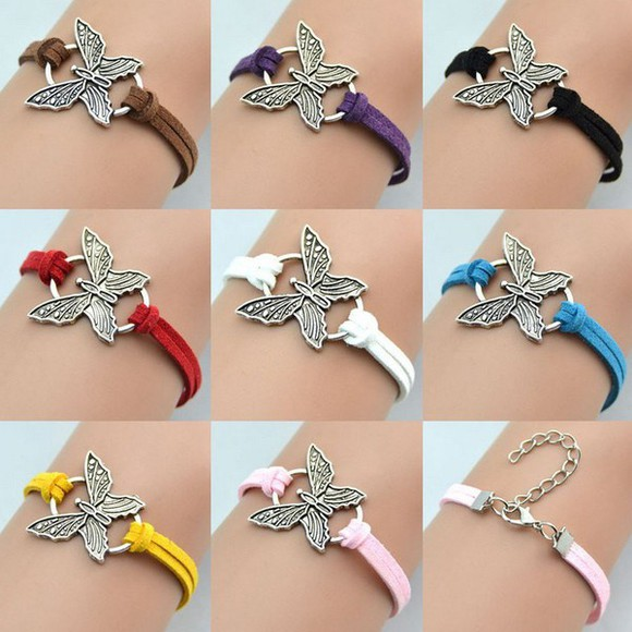 gift jewels cool popular beautiful fashion beauty fashion shopping Butterfly Belly Ring leather bracelet girls fashion stylé