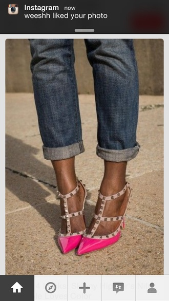 shoes valentino like studs studded heels strappy