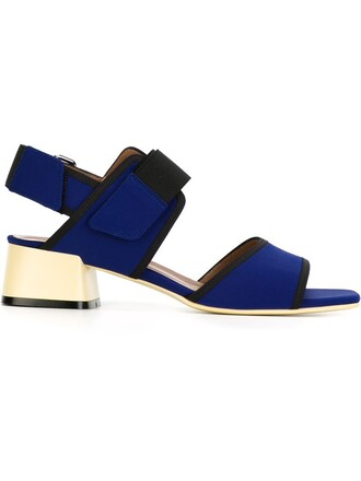 sandals neoprene blue shoes