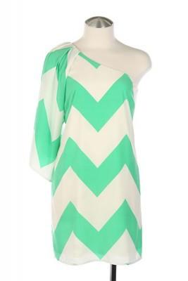 Shoulder Chevron Dress (Mint) | B. Kay Boutique