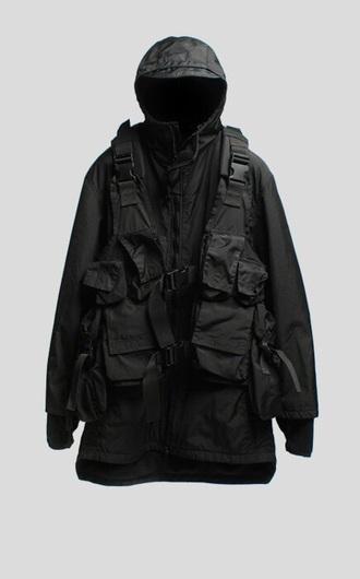 jacket black vest hood