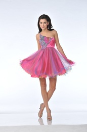 dress,cute,pink,sliver