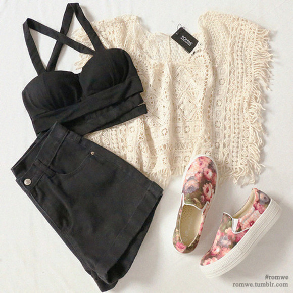 roses cardigan lace blouse
