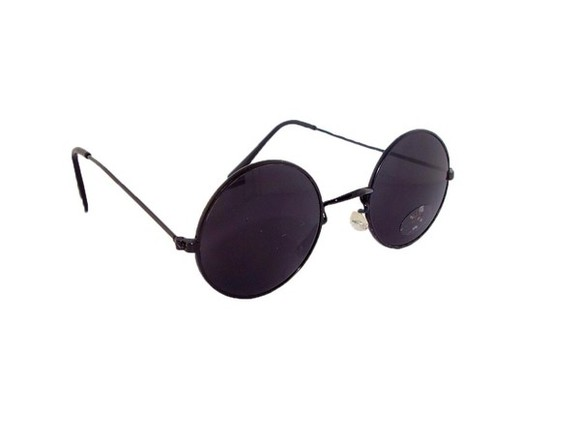 sunglasses black round sunglasses hippie