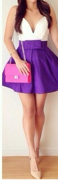 purple dress homecoming dress