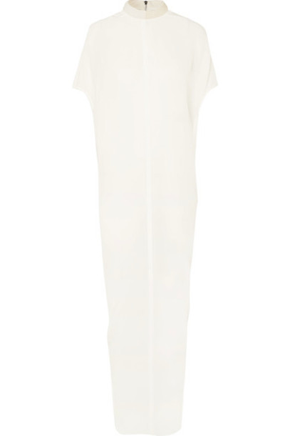Rick Owens dress maxi dress maxi embellished white silk