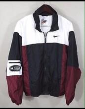 jacket,nike old-school,black and white,colorblock,nike,windbreaker,nike jacket,vintage,bomber jacket