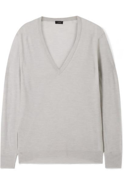 Joseph - Cashmere Sweater - Light gray