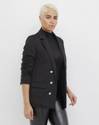 jacket blazer black black blazer breasted