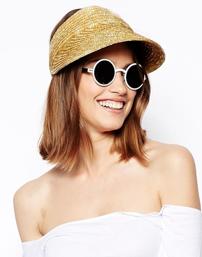 ASOS | ASOS Straw Visor Hat at ASOS