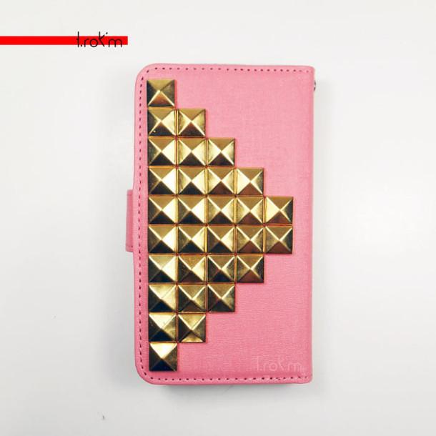 bag nexus5 coral phone cover phone wallet cute gold