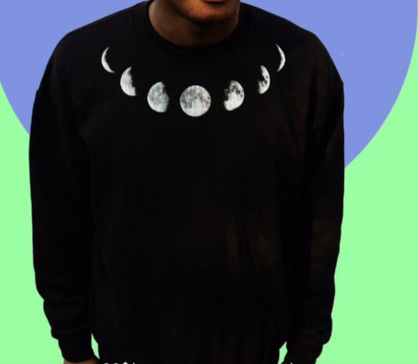 sweater moon cool
