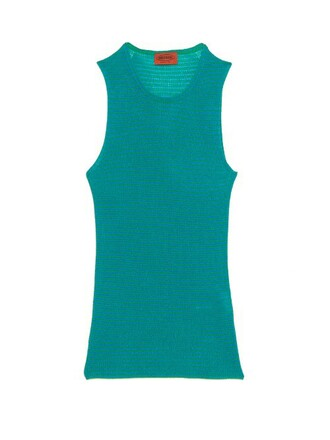 tank top top knit green