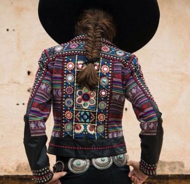 jacket boho boho chic boho shirt gypsy bohemian fashion braid belt