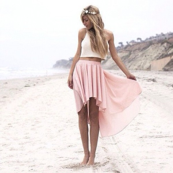 skirt tank top pink dress