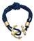 Blu bijoux navy nautical wrap bracelet