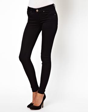 ASOS | ASOS Low Rise Ultra Skinny Jeans in Clean Black at ASOS