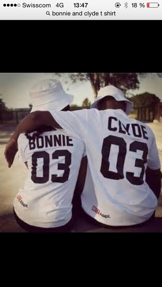 t-shirt bonnie and clyde couples jersey shirt
