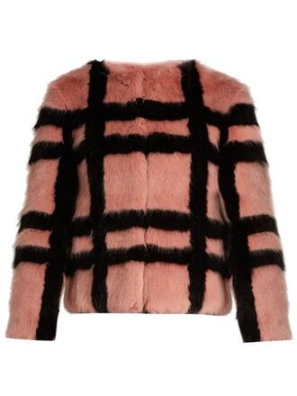 jacket fur jacket fur pink