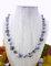Shades of gray, 12/8mm swarovski crystal necklace, black patina, silky grey pearls, black diamond siggy bling