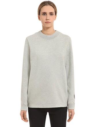 sweatshirt cotton light grey sweater