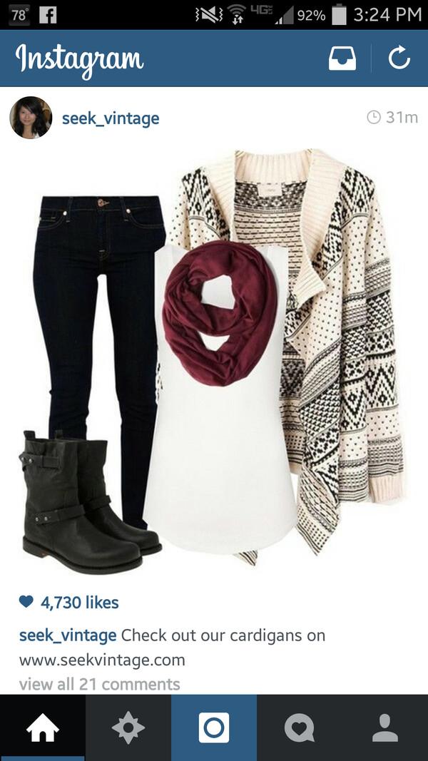 cardigan scarf