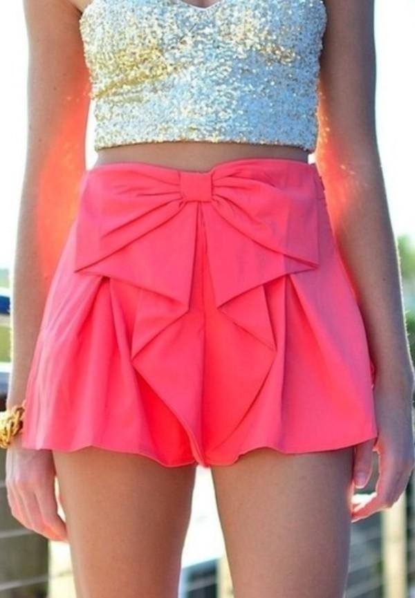 skirt pink bow skirt bow skirt bow