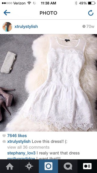 dress cute dress lace dress fashion lace white dress white lace dress