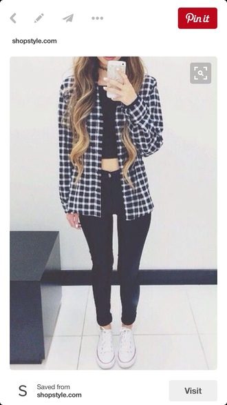 jacket plaid plaid jacket flannel shirt flannel black and white black white grunge pinterest outfit pinterest