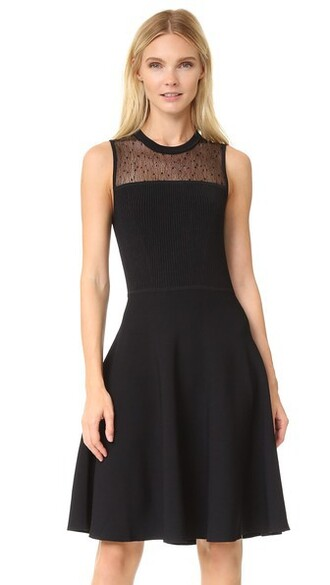 dress day dress knit black