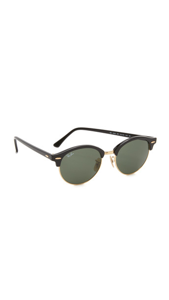 Ray-Ban Round Clubmaster Sunglasses - Black/Green