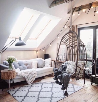 home accessory rug tumblr home decor furniture home furniture hanging chair chair living room sofa blanket pillow lamp