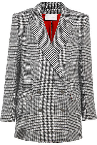 blazer black houndstooth jacket