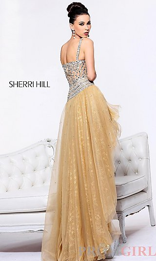 Prom Dresses, Celebrity Dresses, Sexy Evening Gowns - PromGirl: Sweetheart High Low Dress by Sherri Hill